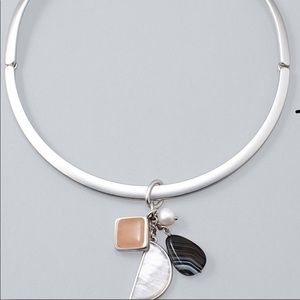 WHBM Mixed Stone Charmed Necklace - NWT